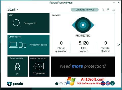 Ekrano kopija Panda Windows 10