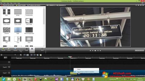 Ekrano kopija Camtasia Studio Windows 10