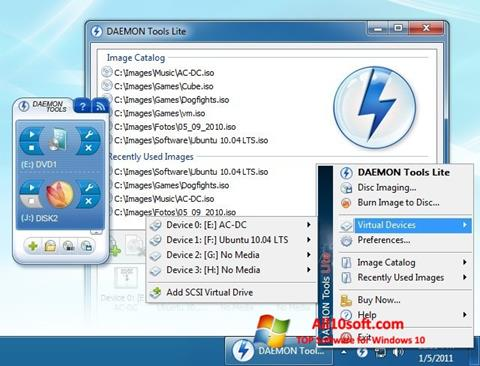 Ekrano kopija DAEMON Tools Lite Windows 10