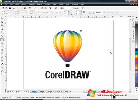 Ekrano kopija CorelDRAW Windows 10