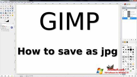 Ekrano kopija GIMP Windows 10