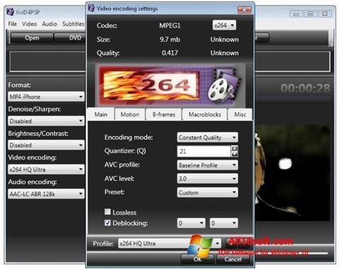 Ekrano kopija XviD4PSP Windows 10
