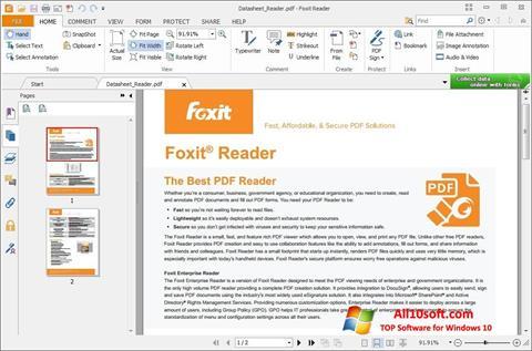 Ekrano kopija Foxit Reader Windows 10