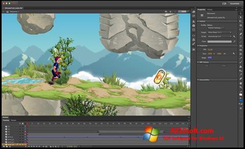 Ekrano kopija Adobe Flash Professional Windows 10