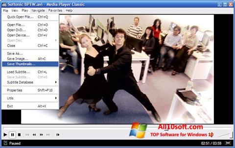 Ekrano kopija Media Player Classic Windows 10