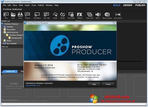 Ekrano kopija ProShow Producer Windows 10