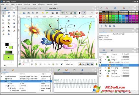 Ekrano kopija Synfig Studio Windows 10