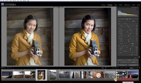 Ekrano kopija Adobe Photoshop Lightroom Windows 10