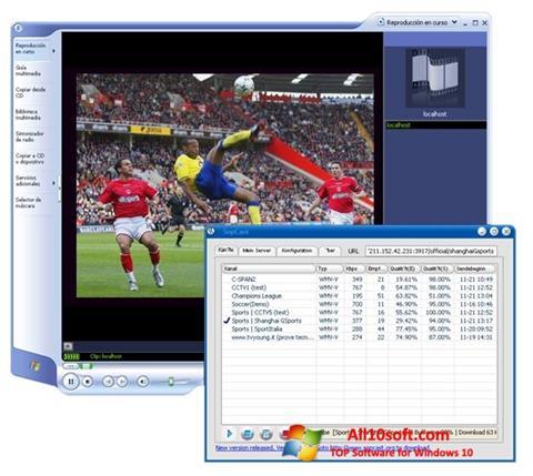 Ekrano kopija SopCast Windows 10