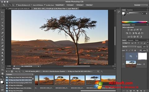 Ekrano kopija Adobe Photoshop Windows 10