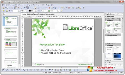 Ekrano kopija LibreOffice Windows 10