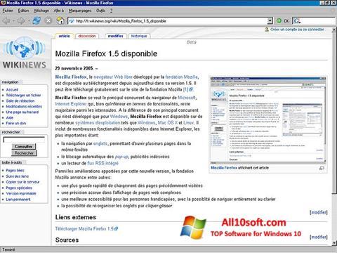 Ekrano kopija Mozilla Firefox Windows 10