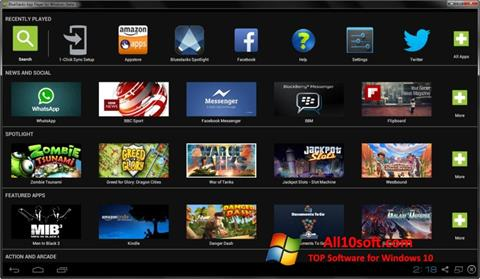 Ekrano kopija BlueStacks Windows 10
