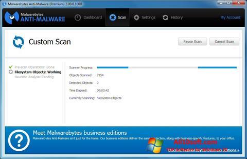 Ekrano kopija Malwarebytes Anti-Malware Free Windows 10