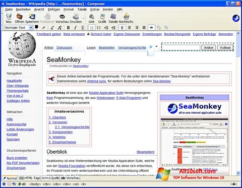 Ekrano kopija SeaMonkey Windows 10