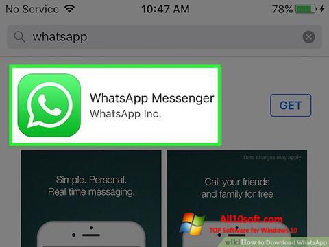 Ekrano kopija WhatsApp Windows 10