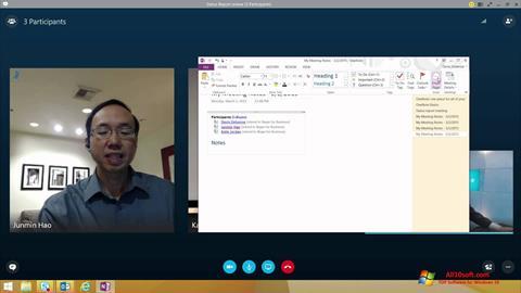 Ekrano kopija Skype for Business Windows 10