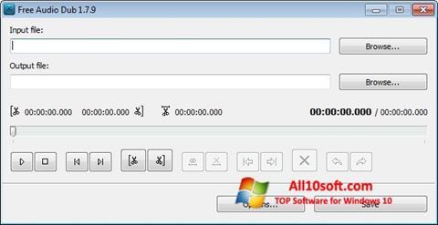 Ekrano kopija Free Audio Dub Windows 10