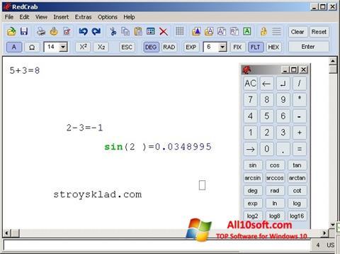 Ekrano kopija RedCrab Calculator Windows 10