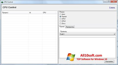 Ekrano kopija CPU-Control Windows 10
