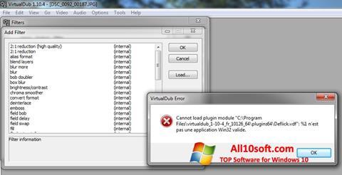 Ekrano kopija VirtualDub Windows 10