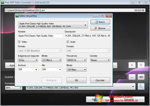 Ekrano kopija Free MP4 Video Converter Windows 10