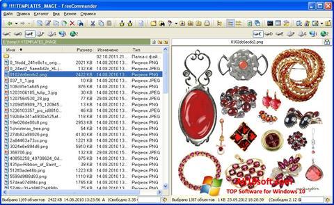 Ekrano kopija FreeCommander Windows 10